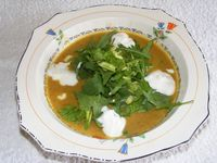 Spicy Lentil Soup with Leafy Herbs